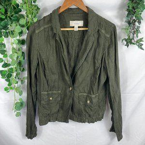 4/$25 Caslon Nordstrom 100% linen blazer jacket